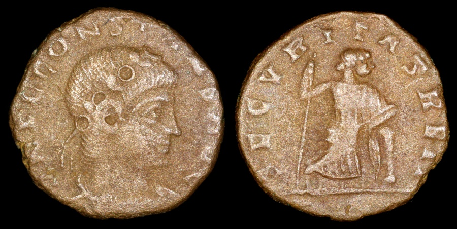 Ancient Coins - Constans Ae4 - SECVRITAS REIP - Rome Mint