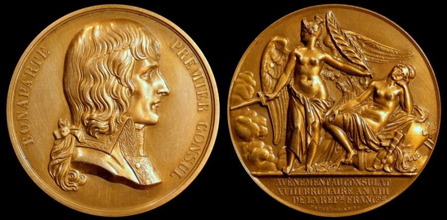 World Coins - 1799 France - Napoleon - Bonaparte's Accession to Premier Consul by Louis-Michel Petit