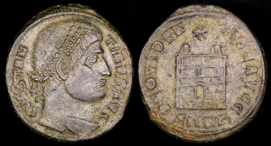 Ancient Coins - Constantine I Ae3 - PROVIDENTIAE AVGG - Thessalonica Mint