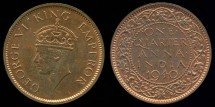 World Coins - 1940 India (British) 1/4 Anna Restrike BU-PL