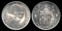 World Coins - 1968 Vatican 5 Lire - Pope Paul VI - FAO Coin - BU