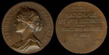 World Coins - 1913 France – Art Award Medal