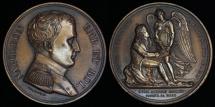 World Coins - 1815  France - Napoleon Bonaparte Exiled to Island of Saint Helena by Nicolas Guy Antoine Brenet