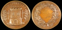 World Coins - 1870 France - Communal Shooting Medal from Epinal, Vosges by Rubineau in Paris