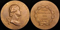 "Us Coins - 1789 George Washington ""Time Increases His Fame Medal"" - First President of the United States (April 30, 1789 to March 3, 1797) - Original US Mint Medal by William Kneass"