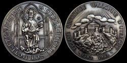 World Coins - 1583 – 1983 Netherlands - 400th Anniversary of Walloon Church in Utrecht - Silver Finish