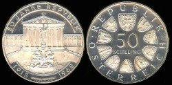 World Coins - 1968 Austria 50 Schilling Proof
