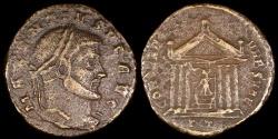 Ancient Coins - Maxentius Follis - CONSERV VRB SVAE - Ticinum Mint