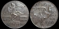 World Coins - 1906  Germany - XV German Federal Shooting Festival in Munich By Maximilian Dasio