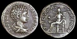 Ancient Coins - Geta Denarius - SECVRIT IMPERII - Rome Mint