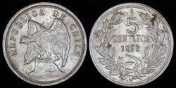 World Coins - 1928 Chile 5 Centavos AU
