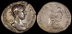 Ancient Coins - Hadrian Denarius - P M TR P COS II - Rome Mint