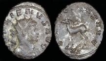 Ancient Coins - Gallienus Antoninianus - DIANAE CONS AVG - Rome Mint