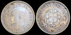 World Coins - 1937 Great Britain 3 Pence - George VI - UNC