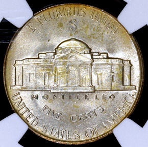 US Coins - 1945 S Jefferson Nickel (Silver) NGC MS65