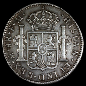 World Coins - 1796 MoFM Mexico 8 Real - Carolus IIII - XF