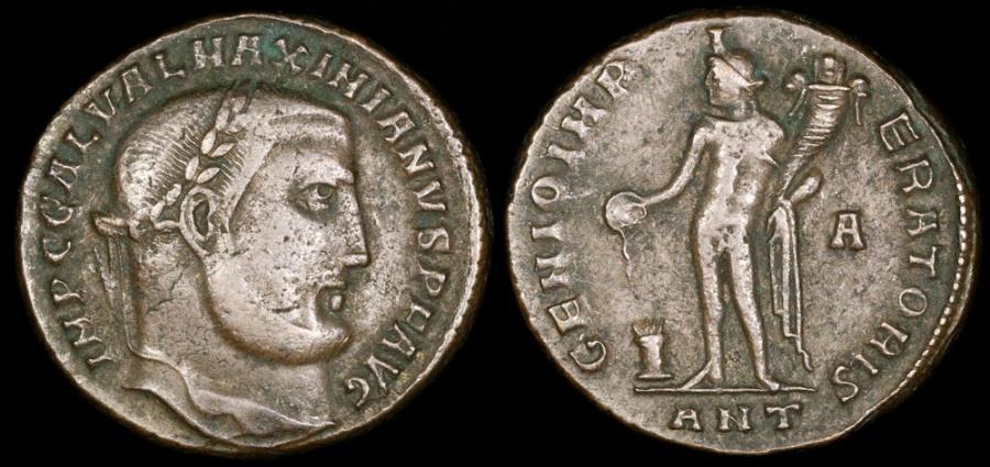 Ancient Coins - Galerius Follis - GENIO IMPERATORIS - Antioch Mint
