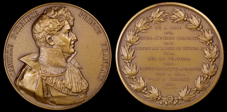 World Coins - 1832 France - Napoleon - Don Camillo Filippo Ludovico Borghese, Prince of Sulmona and Rossano, Duke and Prince of Guastalla a member of the Borghese family, Napoleon Brother-in-law