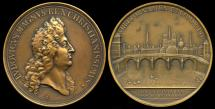 World Coins - 1685 France - Louis XIV - The Pont Royale by Michel Molart and John (Jan) Roettiers
