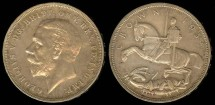 World Coins - 1935 Great Britain Crown AU