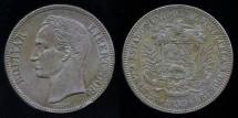 World Coins - 1935 P Venezuela 5 Bolivares XF