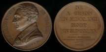 World Coins - 1822 France - Constantin-Francois Chasseboeuf De Volney by Armand-Auguste Caque
