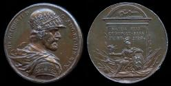 """World Coins - 1731 Great Britain – King Henry II By Jean Dassier (From his series """"Kings and Queens of England"""")"""