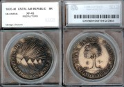 World Coins - 1835 NG-M Central American Republic 8 Reales SEGS XF45 holder