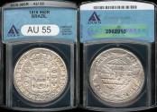 World Coins - 1816 Brazil 960 Reis - Joao VI - ANACS AU55