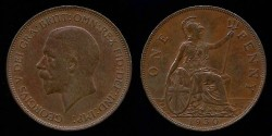 World Coins - 1930 Great Britain Penny AU