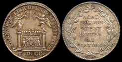 World Coins - 1700  France - Jeton - Lyon (city) - Reconstitution (founded in 1700) of the Academy or Athénée (1806)