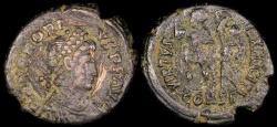 Ancient Coins - Honorius Ae3 - VIRTVS EXERCITI - Constantinople Mint