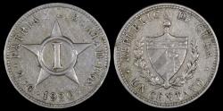 World Coins - 1920 Cuba 1 Centavo - 1st Republic - XF