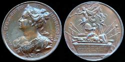 """World Coins - 1731 Great Britain – Queen Anne by Jean Dassier (From his series """"Kings and Queens of England"""")"""