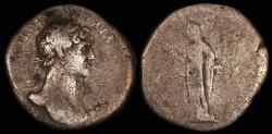Ancient Coins - Hadrian Denarius - PIETAS - Rome Mint
