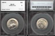 Us Coins - 1955d Washington Quarter SEGS MS63
