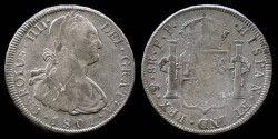 World Coins - 1801 JP-PTS Bolivia 8 Reales (Charles IIII) XF