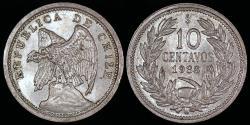 World Coins - 1938 Chile 10 Centavo UNC