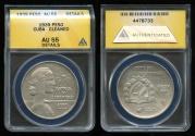 """World Coins - 1939 Cuba 1 Peso - """"ABC Peso"""" ANACS AU55"""