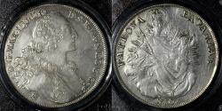 World Coins - 1770 A Bavaria (German State) 1 Thaler PCGS AU