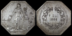 World Coins - 1859 France - Jeton - General Society of Industrial and Commercial Credit Banks - Decree of 1859 by Honore de Longueil