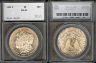 Us Coins - 1880s Morgan Dollar SEGS MS62-PL