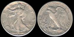Us Coins - 1943 D Walking Liberty Half Dollar XF
