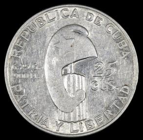 World Coins - 1953 Cuba 25 Centavos
