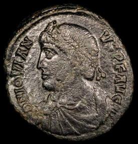 Ancient Coins - Jovian Ae3 - VOT V - Constantinople Mint