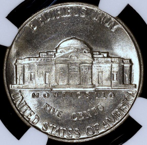 US Coins - 1942 Jefferson Nickel (Type I) NGC MS65