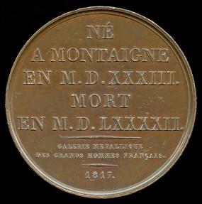 World Coins - 1817 France – Michel De Montaigne by Jacques-Édouard Gatteaux