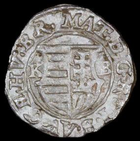World Coins - 1615 KB Hungary 1 Denar - Mathias II - AU Silver