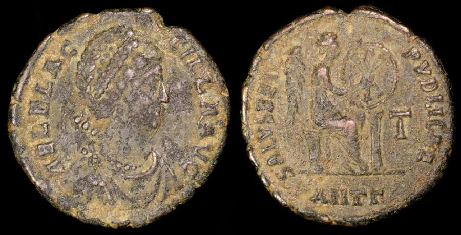 Ancient Coins - Aelia Flacilla Ae3 - SALVS REIPVBLICAE - Antioch Mint