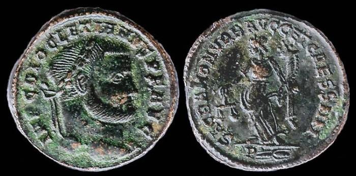 Ancient Coins - Diocletian Follis - SACRA MON VRD AVG CET CAESS NN - Rome Mint